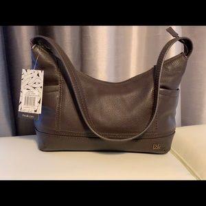 The Sak Kendra Brown leather shoulder bag.